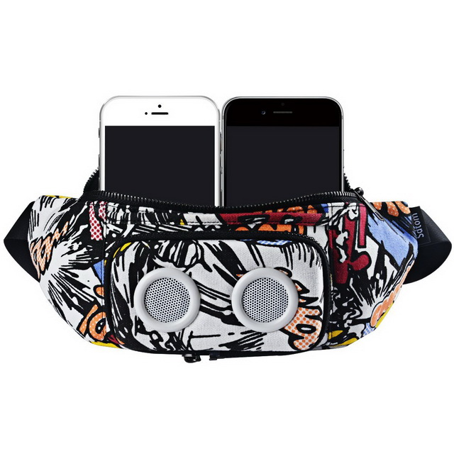 Multifunction Running Fanny Pack USB Charging Waist Bag With Speakers