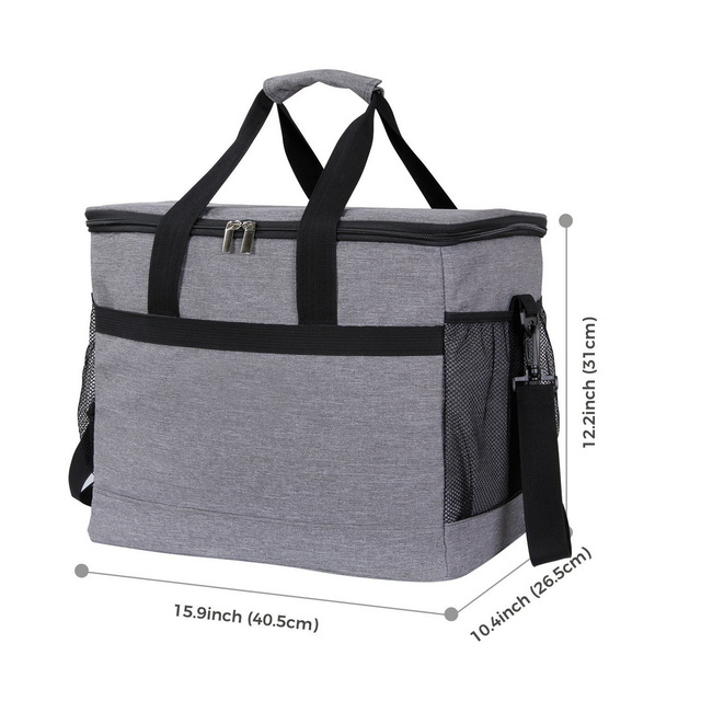 1680d Waterproof Insulated Cooler Box & Snap basket With 30L Capacity For Travel Picnic