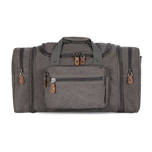 Durable Canvas Large Travel Duffel Gym Bag For Outdoor Sports