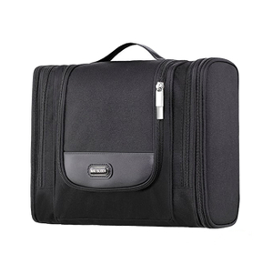 Waterproof Hanging Toiletry Bag Men Black Travel Kit For Shaving And Accessories