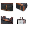 Sports Gym Duffle Bag Canvas Large Capacity For Travel With Leather Handles
