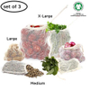 Reusable Washable Cotton Mesh Drawstring Bags For Fruit And Vegetable With High Quality