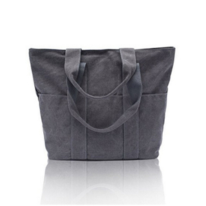 Large Cotton Canvas Shoulder Tote Bags With Heavy Duty Utility