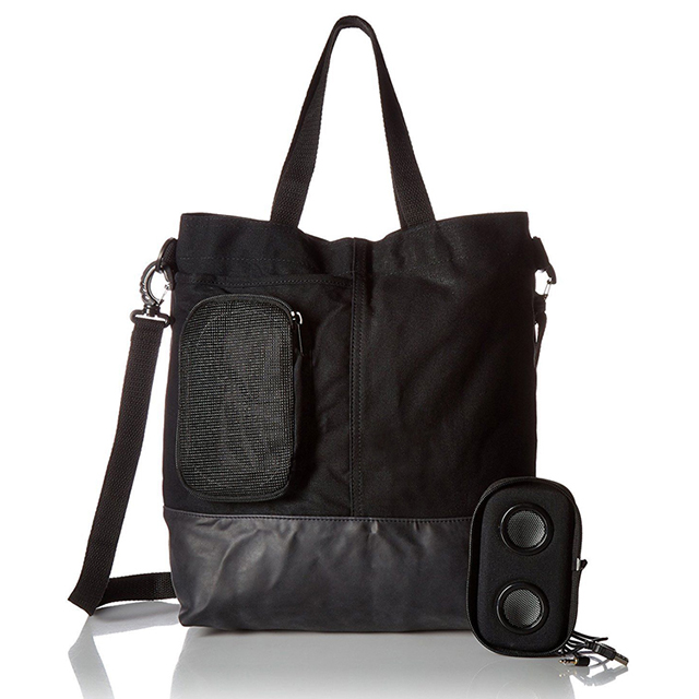 Cotton Canvas Mens Tote Bags With Bluetooth Speaker