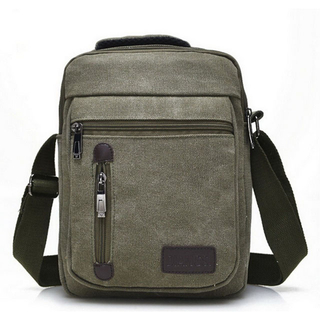 Canvas Crossbody Satchel Bag Shoulder Messenger Bag For Daily Travel
