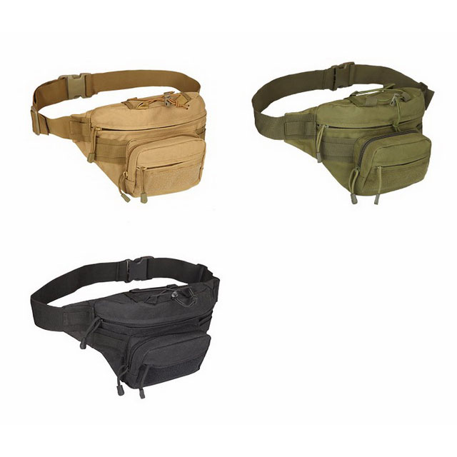 Waist Bag Running Jogging – Military Canvas Fanny Pack For Sports