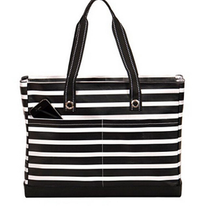 Laptop Tote Bag Multi Pockets Stripe Shopping Travel Bags
