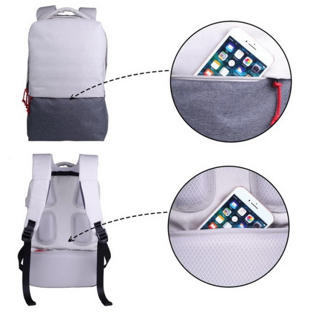 Business Office Computer Laptop Backpack Water Resistant With USB Charging Port and Anti Theft