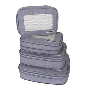 LUCKIPLUS 4Pcs Compression Luggage Packing Cubes For Travel