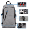 Canvas Laptop Backpack College School Computer Bag With USB Port